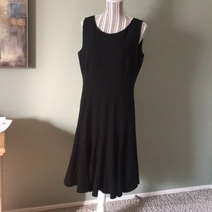 Ellen Tracy black dress, lined, slimming